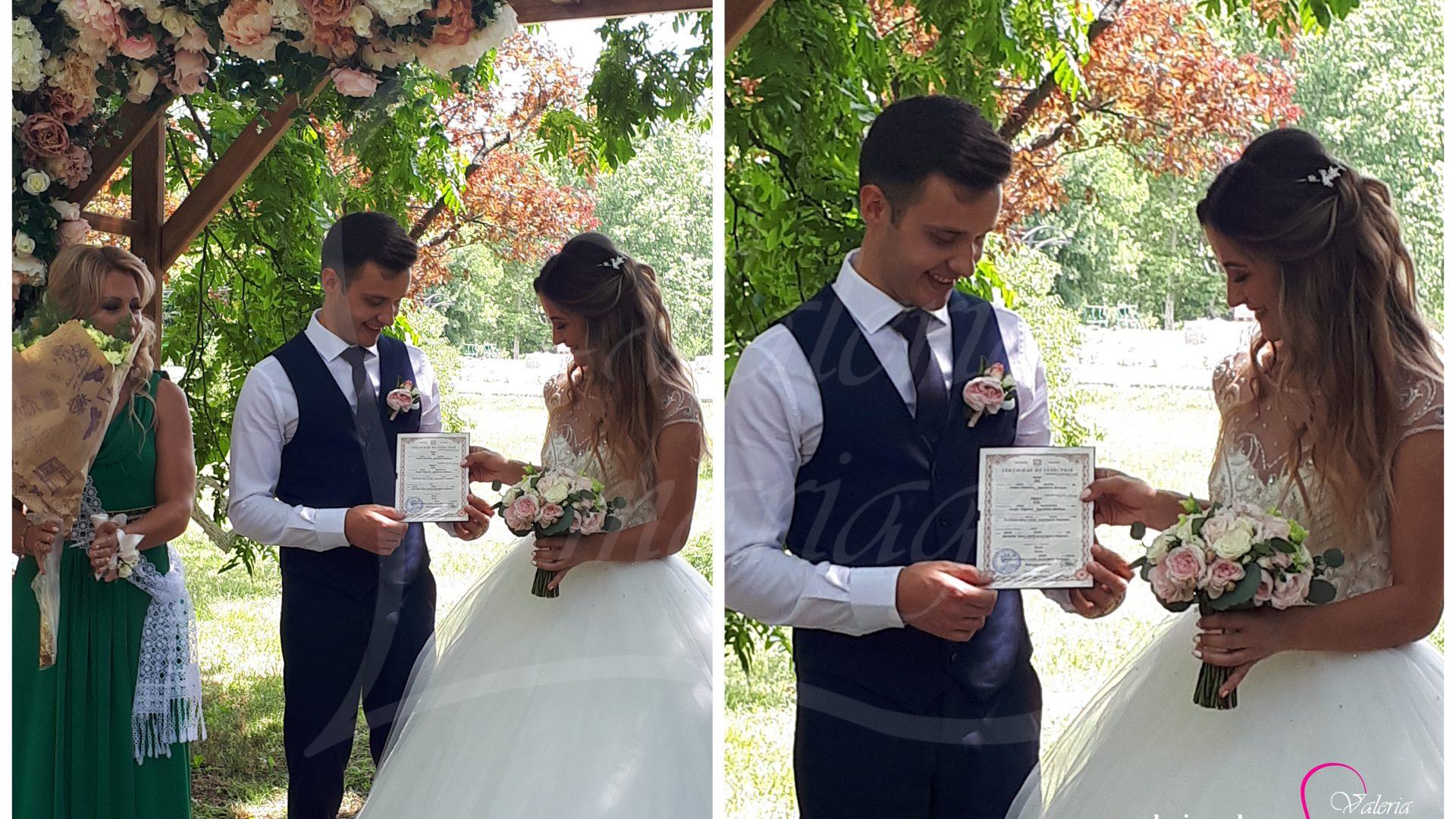 Inregistrarea casatoriei sub cerul liber Agentia Valeria Mariage 069787665 www.valeria (24)